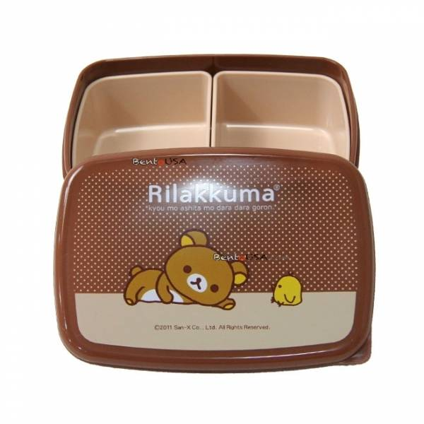 rilakkuma japanese bento box lunch box with removable sections. Black Bedroom Furniture Sets. Home Design Ideas
