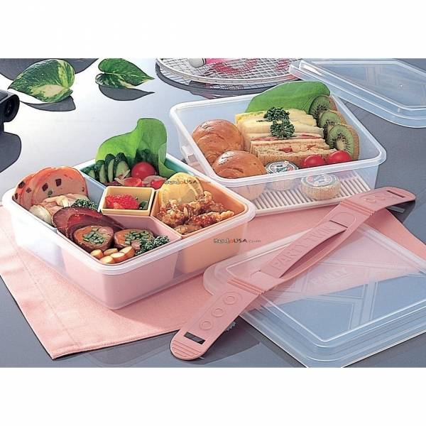 made in japan microwavable picnic bento box lunch box set 2 tiers. Black Bedroom Furniture Sets. Home Design Ideas