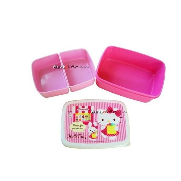 bento lunch box hello kitty japanese 2 tier hello kitty bento lunch box bento lunch box hello. Black Bedroom Furniture Sets. Home Design Ideas
