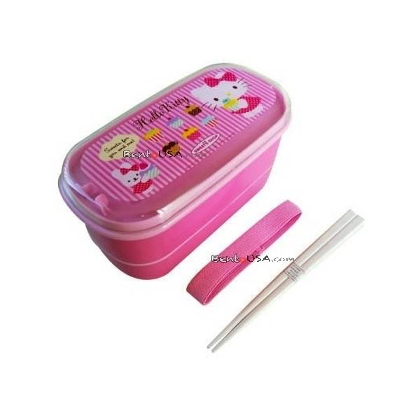 japanese 2 tier hello kitty bento lunch box. Black Bedroom Furniture Sets. Home Design Ideas