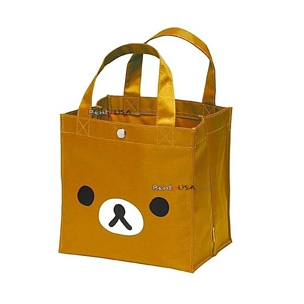 bento lunch box lunch tote bag rilakkuma face. Black Bedroom Furniture Sets. Home Design Ideas