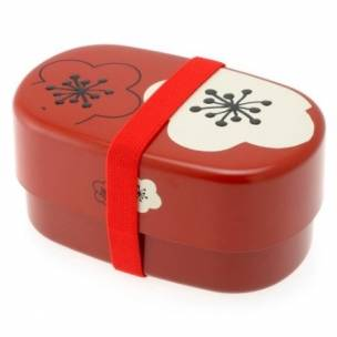 microwavable japanese bento box lunch red plum. Black Bedroom Furniture Sets. Home Design Ideas