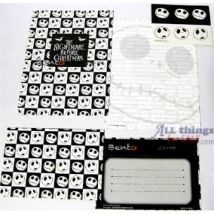 Nightmare before Christmas Letter Set Sticker total 21 pcs