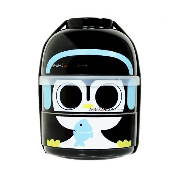 cutezcute 2 tier bento lunch box set baby bento buddies baby cool penguin all things for sale. Black Bedroom Furniture Sets. Home Design Ideas