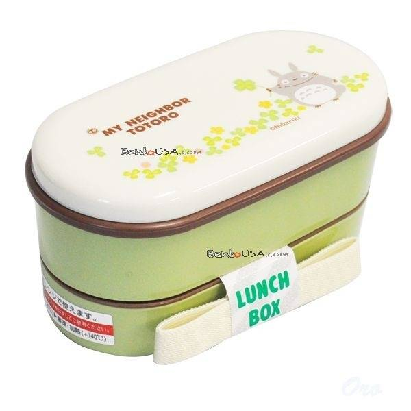 microwavable japanese bento box lunch my neighbor totoro 2 tier all things for sale. Black Bedroom Furniture Sets. Home Design Ideas