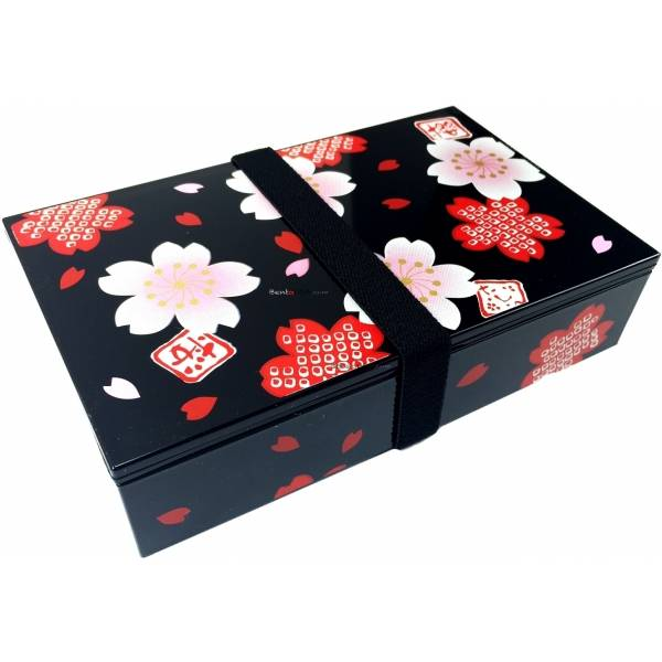 bento lunch box 2 black chary design. Black Bedroom Furniture Sets. Home Design Ideas