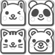 Japanese Tofu Food Stamper Panda Cat Bear Rabbit
