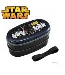 Star Wars 2-Tier Bento Lunch Box Set with Chopsticks Elastic Strap