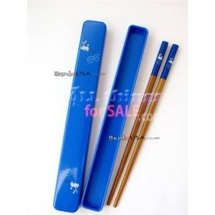 Japanese Bento Chopsticks with Case Blue
