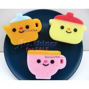 Japanese Kitchen Cute Sponge Set of 3