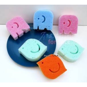 Japanese Kitchen Cute Sponge Set of 6