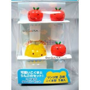 Japanese Bento Accessories Soy Sauce bottle container Bear Apple