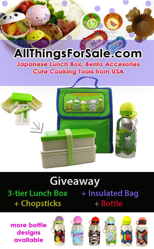 Animal Bento Lunch Box Set Giveaway