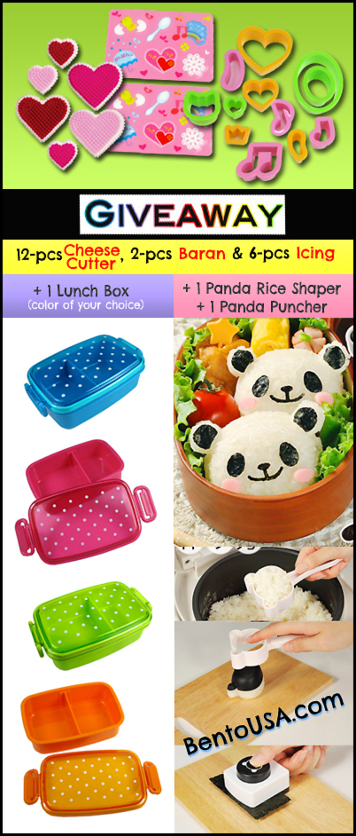 Colorful Bento Box Panda Starter Kit Giveaway