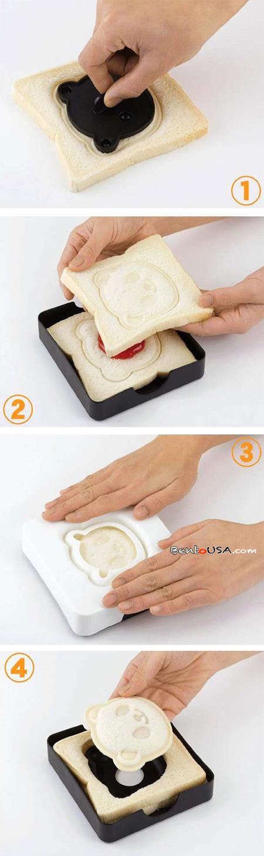 Panda sandwich recipe