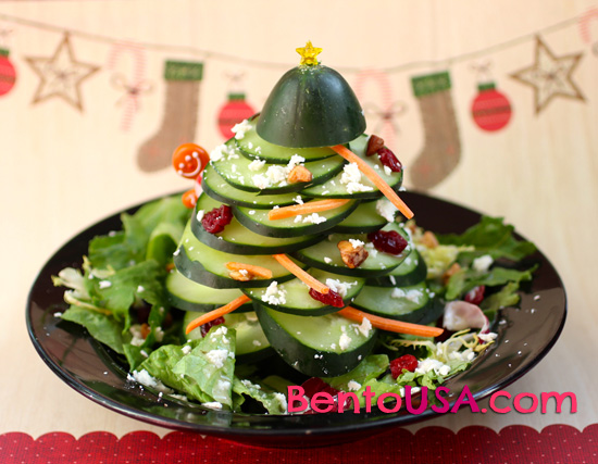 http://www.allthingsforsale.com/bento/wp-content/uploads/2012/11/bentousa-christmas-party-fun-food-cucumber-xmas-tree-3.jpg