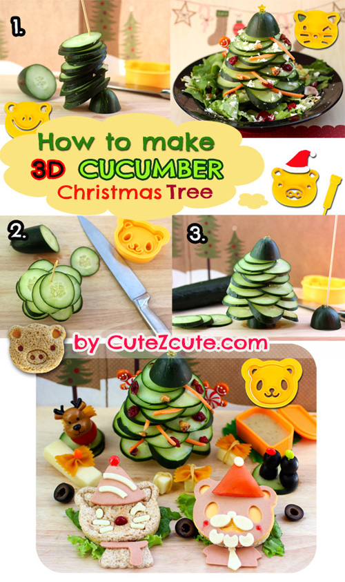 How to Make Cucumber Xmas Tree