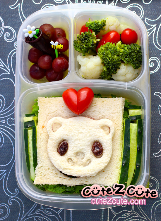 Panda Kids Lunch with Heart Tomato
