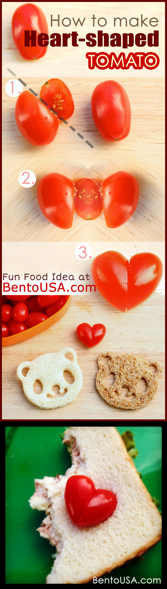 Perfect for Valentines Day.. How to make Heart Shaped Tomato in a snap