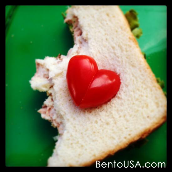 Valentine Themed Tuna Sandwich