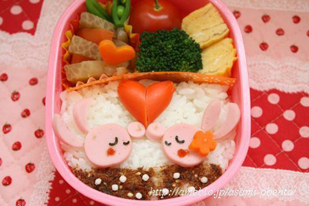 Asami Bento Kissing Rabbit