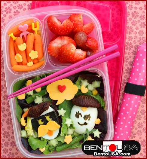 Mr and Mrs Egg in Love Bento Lunch