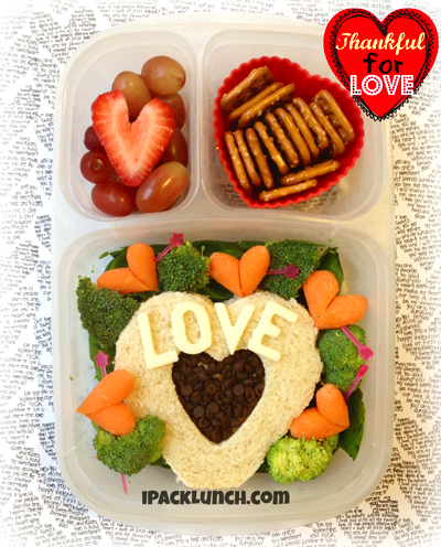 ipacklunch.com Thankful love heart sandwich