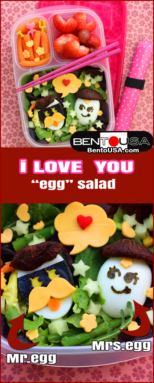 I love you Lunch - Mr and Mrs Egg Salad