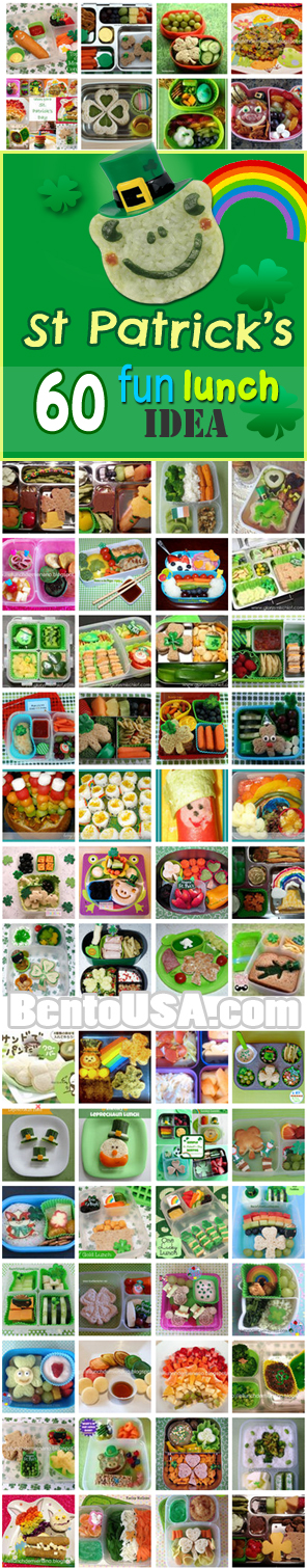 St Patrick Day theme Fun Food Bento Lunch