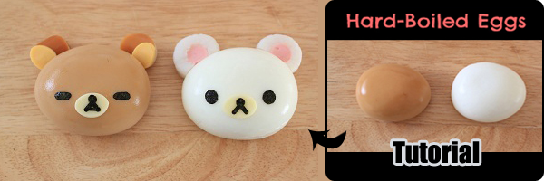 Rilakkuma Bear Fun Hard-Boiled Eggs