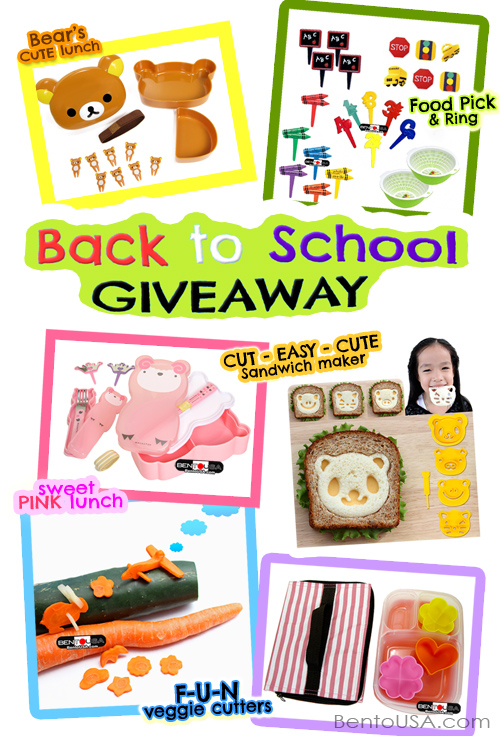 GIVEAWAY - back to school fun lunch box, sandwich cutter, vegetable shaper and more! @bentoUSA.com