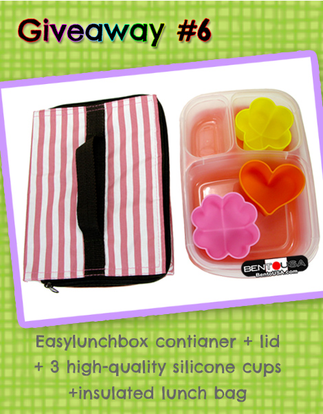 Lunch Box Giveaway #easylunchboxes with Silicone cups and Insulated Bag