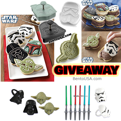 Giveaway - Star Wars Cookie Cutters, Bento Deco, and plus 1 Anything from BentoUSA Store