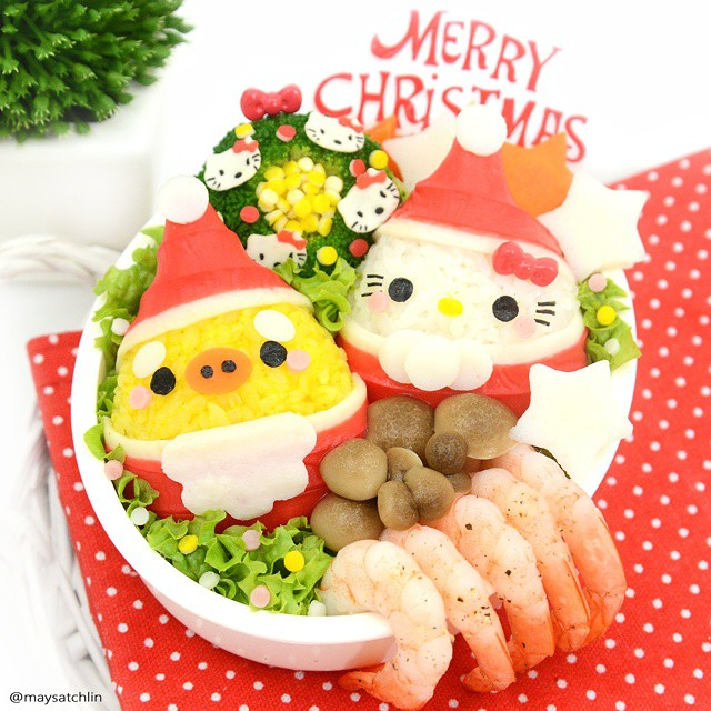 Hello Kitty bento lunch box - Merry Christmas