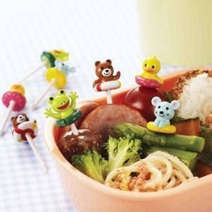 Bento food picks - Summer Animal