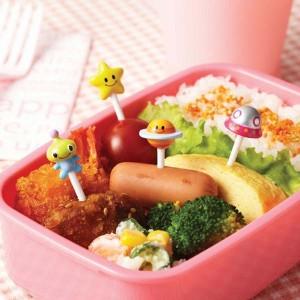 Bento food picks - Alien and Spaceship