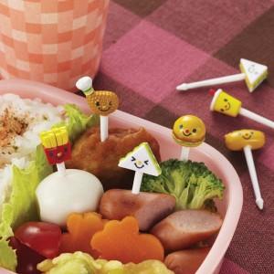 Bento food picks - Burger, French Fries, Soda