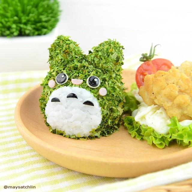 3D Food Art - Totoro rice ball