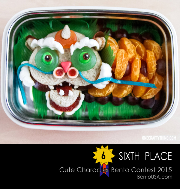 The Parade Dragon - Dragon Sandwiches and Fruit snack bento box