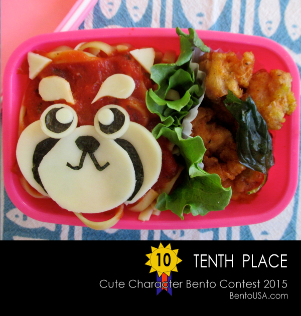10th - Red Panda Spagetthi Bento Lunch Box