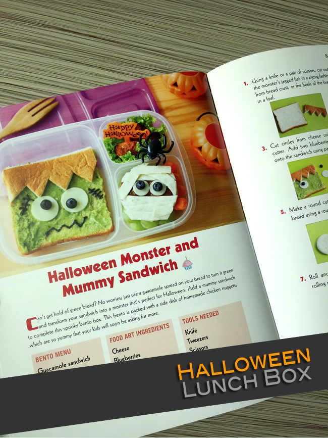 Halloween Monster Sandwich Bento Lunch Box