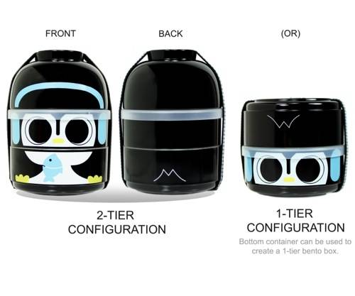 CuteZcute Baby Bento Buddies 2-Tier Bento Lunch Box set - also great for jewelry storage