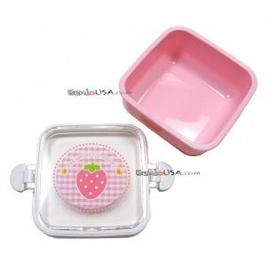 Microwavable Japanese Bento Box Lunch Box Fruit Pink Strawberry