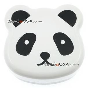 JAPANESE BENTO BOX 2 TIER LUNCH BOX WITH STRAP PANDA FACE