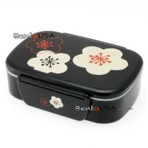 Microwavable Japanese Bento Box Lunch Box with Chopsticks Black