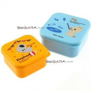 Microwavable Japanese Bento Box Lunch Box set of 2 MINI boy