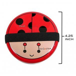 Japanese Bento Box 2 tier Lunch Box with Strap Lady Bug