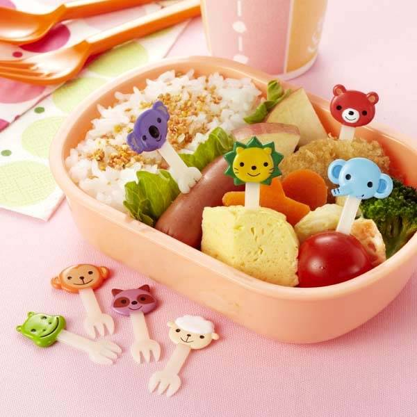japanese bento box accessories food pick cute animal fork 8 pcs fo. Black Bedroom Furniture Sets. Home Design Ideas