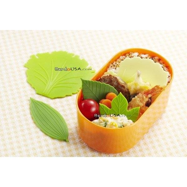 Japanese Microwavable Reusable Bento Baran Silicone Lettuce Leaf Sheet