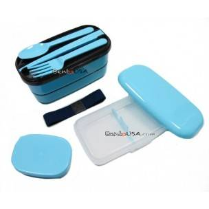 Microwavable Japanese Bento Box Lunch Box Set with Spoon Fork chopsticks